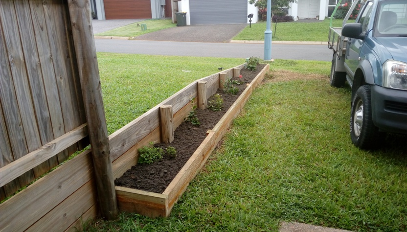 Garden Bed building after