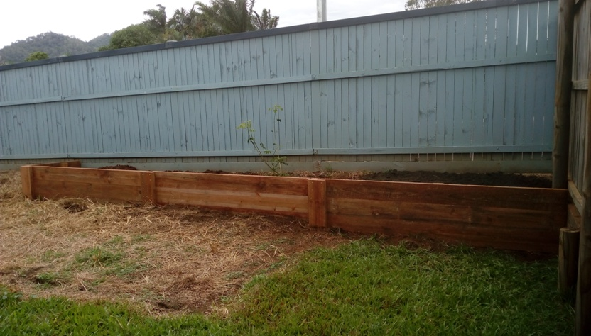 Raised garden beds after